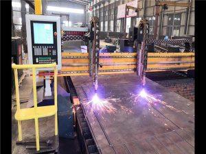 double drive gantry cnc plasma cutting machine h beam ຜະລິດຕະພັນລະບົບເຄື່ອງຈັກ hypertherm cnc