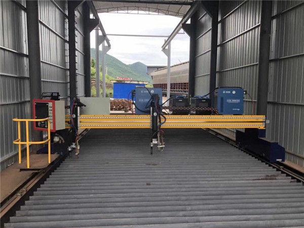 ແຜ່ນເຫຼັກຂະ ໜາດ 1500x3000mm ຂະ ໜາດ CNC ເຄື່ອງຕັດໂລຫະແຜ່ນ Plasma